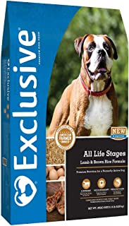 Exclusive All Life Stages Lamb & Brown Rice Recipe Dog Food, 15 lb Bag