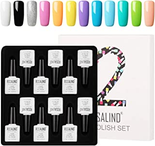 ROSALIND esmaltes de gel de uñas Semi-permanente en gel set para manicura 12 pcs 10ml
