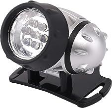 LED Hoofdlamp - Aigi Heady - Waterdicht - 20 Meter - Kantelbaar - 7 LED's - 0.54W - Zilver | Vervangt 6W