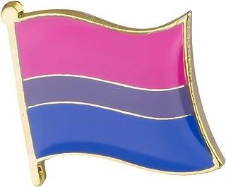 Snazzyflags Badge à épingle en métal et émail motif drapeau arc-en-ciel – Symbole d'égalité Gay Pride LGBT