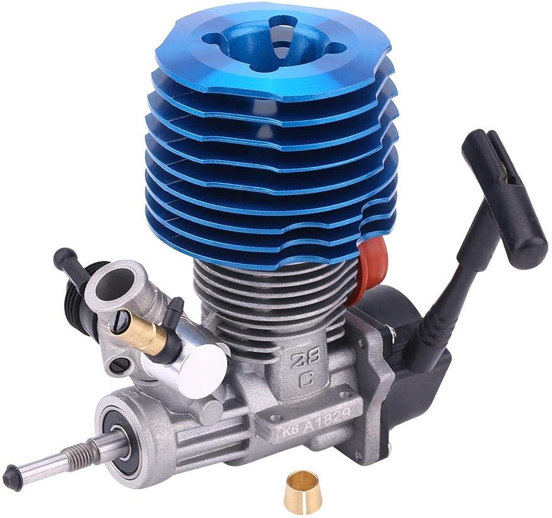 Dilwe RC-Motor, 4.57CC 28 Seitlicher Auspuffstarter 33000 RPM Motorzubehr für 1  8 RC-Raupenfahrzeug