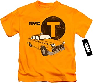 New York City Yellow Cab Unisex Youth Juvenile T-Shirt for Girls and Boys