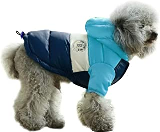 PET ARTIST Dog Winter Coat Hoodie Snowsuit Apparel with Leash Hole - Waterproof Windproof Hooded Dog Cold Weather Coat for Chihuahua,Yorkie,Poodles,Shih tzu,Mini Pinscher,2 Colors 4 Sizes
