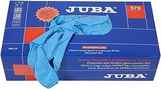 Juba - Guante sin soporte nitrilo talla -m azul (100u