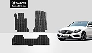 TOUGHPRO Floor Mat Accessories Set (Front Row + 2nd Row) Compatible with Mercedes-Benz C300 (Sedan Only) - All Weather - Heavy Duty - (Made in USA) - Black Rubber - 2015, 2016, 2017, 2018, 2019, 2020