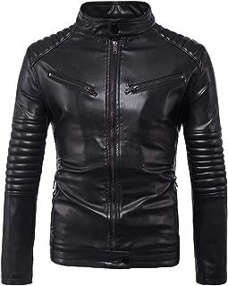 Kstare Steampunk Gothic Men Faux Leather Black Coat Jacket Biker Motorcycle Zipper Outwear Trench Coat