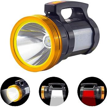 6000mAh USB Rechargeable LED Work Light Torch Spotlight Hand Lamp Side Lantern