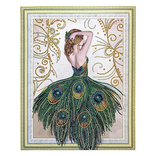 ESHOO DIY 5D Diamant Peinture Point De Croix Broderie Fille Papillon Diamond Painting Kits Salon Chambre Décoration Autocollant Mural