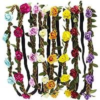 HBF 8 Piezas Diademas De Flores Mujer Multicolor Coronas De Flores Para Playa Festival Boda