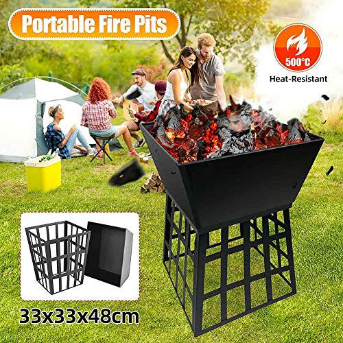 ZDYLM-Y Outdoor Fire Pit, Multifunctional Portable Removable Firepit Fireplace Stove Wood Burning, for Outside Garden, Camping