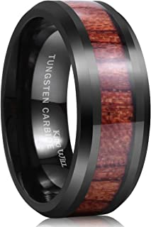 mens wedding ring wood inside