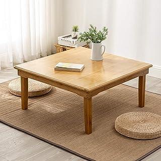 Pliante Bambou Table Basse Carrée Style Asiatique Mobilier De Salon Antique Étage Table À Manger Traditionnelle