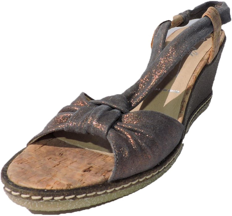 Donald J Pliner Womens Pola Distressed Metallic 3  Heels Wedge Rust Bronze Sandals Size 9.5 M