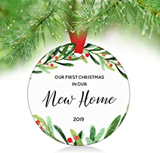 ZUNON First Home Ornament 2019 First Christmas New Home Ornament First Home Gift Housewarming Gift Home Ornament Owner Gift Christmas Ornament Decoration (New Home Ornament)