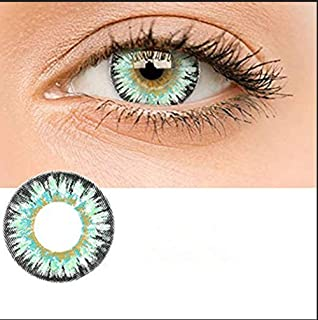 Female Multicolor Cute Glamour and Attractive Colorful Contact Lens Cosmetic Makeup Eyeshadow - Grandma Green