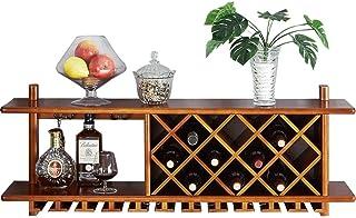 Casier à vin mural en bois massif armoire à vin |Casier à vin |Porte-verre à vin suspendu | Porte-verres à pied | Porte-...