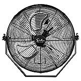 18 Inch Industrial Wall Mount Fan, 3 Speed Commercial Ventilation Metal Fan for Warehouse, Greenhouse,...