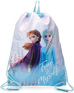 Disney Mochila Saco Frozen True To Myself, Azul