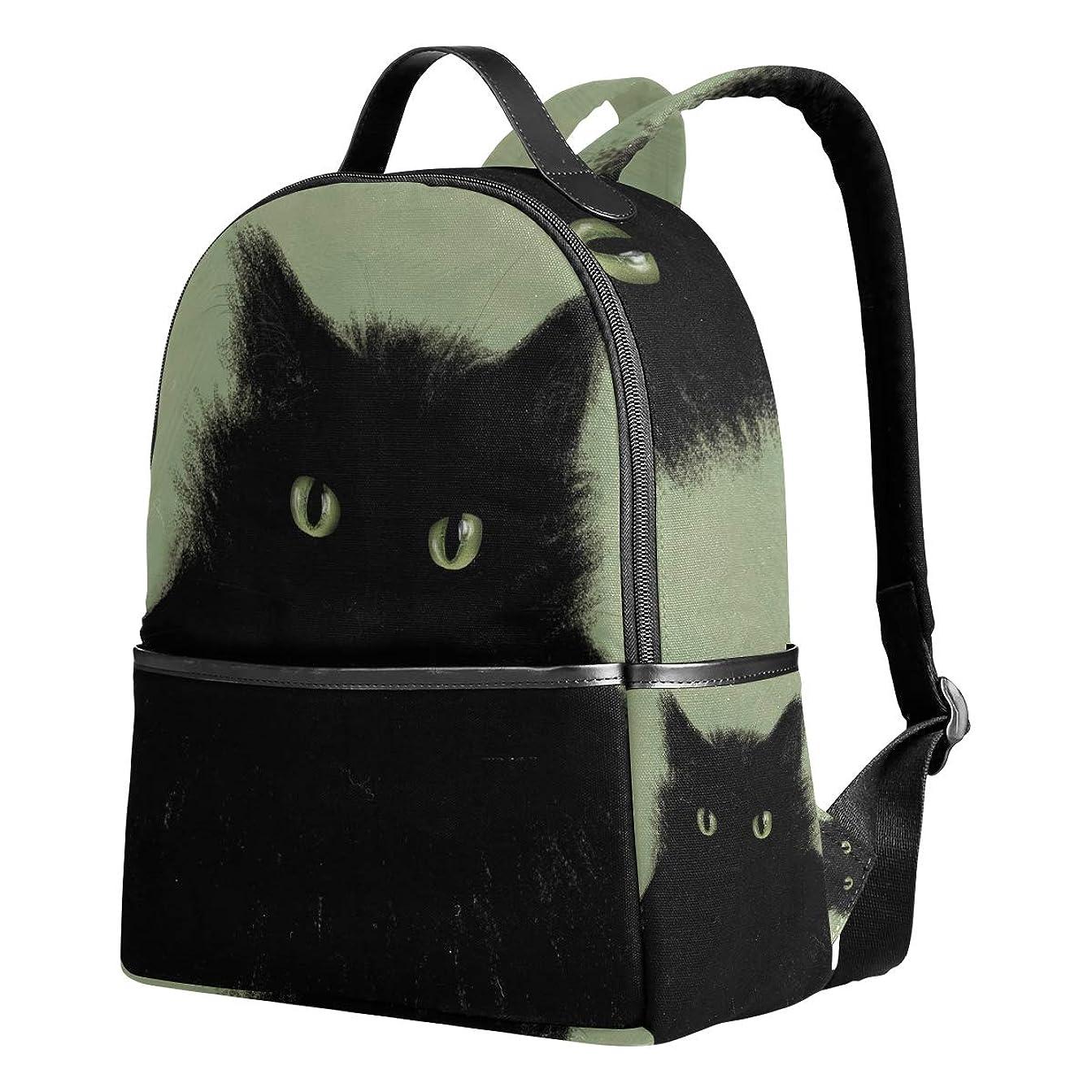 アナニバー放映気まぐれなユサキ(USAKI) リュック リュックサック 通学 黒猫 猫柄 ブラック