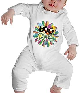 SARA NELL Boo Crew Letter Pumpkin Halloween Baby Bodysuit Jumpsuit Onesies Long Sleeve