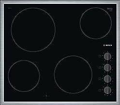 Bosch Built-In Radiant Electric Hob 60 cm Knob Control Black PKE645CA1E , 2725612133448