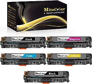 MitoColor Compatible for CF387A Toner Cartridge for HP Color Laserjet Pro MFP M476dw Printer, 5 Pack.