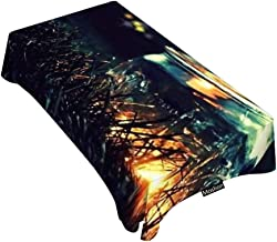 Moslion Decorative Rectangle Table Cloths Beautiful Firefly at Night Tablecloth Table Cover for Dining/BBQ/Picnic/Coffee Table 60 X 90 Inches