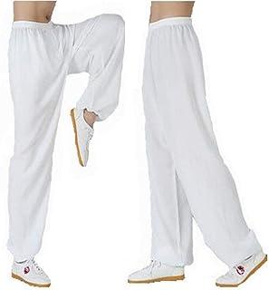 MissZZ Vêtements de Tai Chi , Pantalon de Tai Chi Femme et Homme en Bambou Chanvre WU Shu Kung Fu Vêtements Doux Confortab...