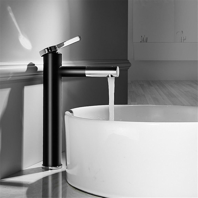 AQMMi Wasserhahn Mischbatterie Für Badzimmer Messing Schwarz Schwenken 1K Lack Warmes Und Kaltes Wasser Der Einhebelsteuerung Mischbatterie Waschtisch Armatur Für Bad