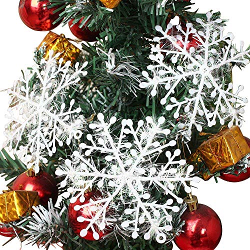 72pcs White Sparkling Snowflakes String & Sticker Window Clings Decal Christmas Decoration Hanging Xmas Ornaments
