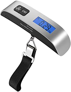 [Backlight LCD Display Luggage Scale]Dr.meter PS02 110lb/50kg Electronic Balance Digital Postal Luggage Hanging Scale with...
