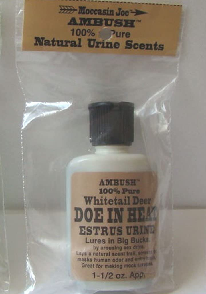 Ambush Seattle Mall Moccasin Joe Manufacturer OFFicial shop Whitetail Deer Doe in Estrus Heat Urine Scen