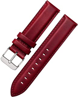 17mm 18mm 19mm Watch Band Crocodile Pattern quick release Genuine Leather Replacement Watch Straps
