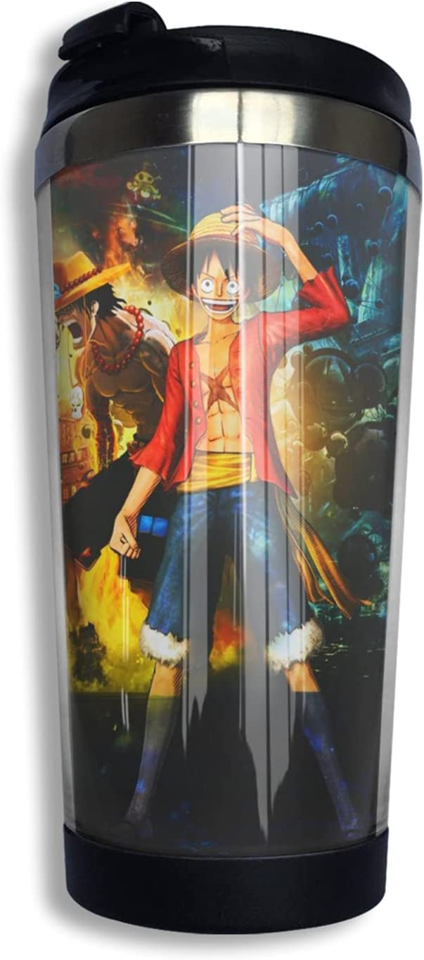 National uniform free shipping One Piece Monkey D Luffy Anime Coffee F Popular products Mug Print Thermos 3d Cup