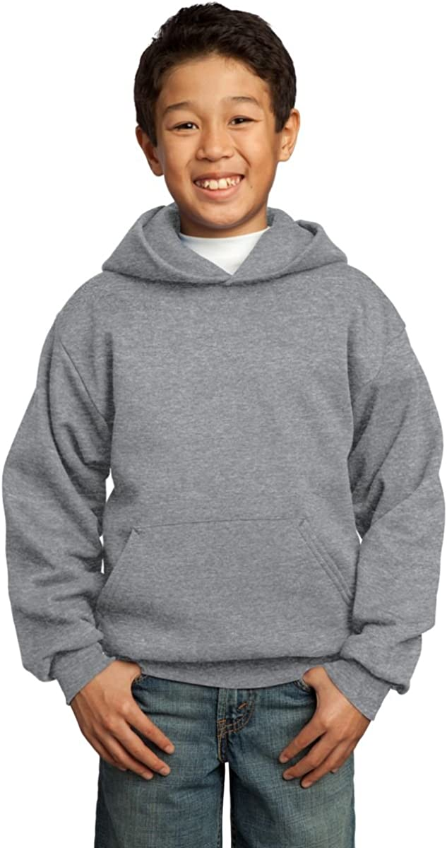 Port & Company - Youth Pullover Hooded Sweatshirt, PC90YH, Athletic Heather, M