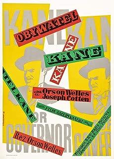 Posterazzi EVCMMDCIKAEC009 Citizen Kane, Orson Welles On Polish Poster Art, 1941 Photo Print, 8 x 10, Multi