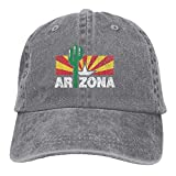 Jhonangel Vintage Cactus Arizona Flag Unisex Gorras de béisbol ajustables Sombreros de mezclilla Cowboy Sport Outdoor