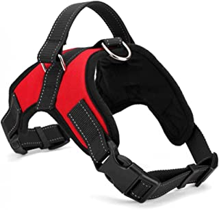 PetsUp Service Dog Harness for Large Medium Small Dogs ((45-54Cm Neck,51-64Cm Girth), Red)