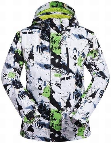 GZ Manteau De Manteau De Plein Air Chaud Et Imperméable Au Vent pour Hommes, Combinaison De Ski Simple Et Double pour Hommes, Imperméable Et Coupe-Vent
