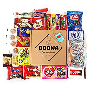 Korean Snack Box  22Type 25EA  Various Yummy Snacks Chips Cookies Candy Ramen Gift