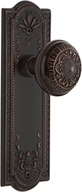 Nostalgic Warehouse Meadows Plate Privacy Egg & Dart Door Knob in Timeless Bronze