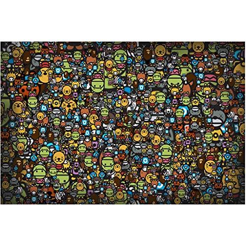 Puzzels 1000 Stuks, Cartoon-intensief, Houten Puzzel Educatief Speelgoed Voor Volwassen Kinderen Helpen De Relatie Tussen Ouder En Kind Te Bevorderen -4.21