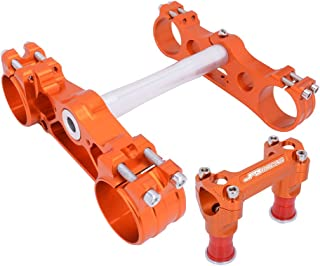 AnXin Triple Tree Clamps Front Fork Complete Upper Lower Stem Handlebar Riser Clamp For 14-19 KTM EXC/EXCF 125-530, 13-19 KTM SX/SXF/XCF/XCW/XCFW 125-525