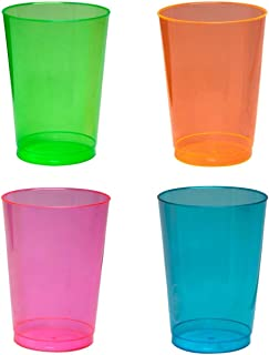 Party Essentials N1010090 Plastic Cups, 100-Count, Assorted Neon