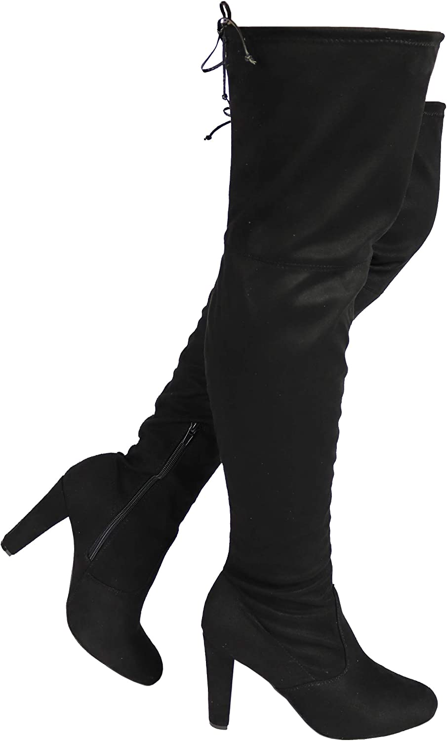 Women's Over The ランキング総合1位 Knee Boot - Thigh Sexy Calf Wide メイルオーダー FIT H