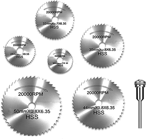 """popular YEEZUGO 6pcs 1/8"""" HSS High Speed lowest Steel new arrival Circular Saw Blades for Dremel Rotary Tool W/ Shank outlet online sale"""