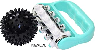 Muscle Roller and Massage Ball Bundle by Nexlvl - Awesome Massage Roller Foot Massager Fascia Roller for Muscle Recovery, Muscle Pain Relief, Myofascial Release