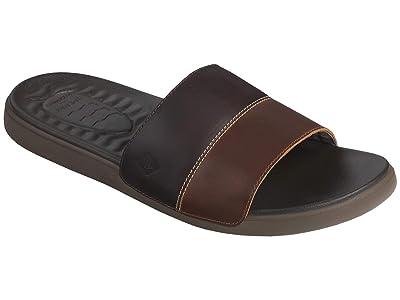 Sperry Plushwave Dock Leather Slide (Brown) Men