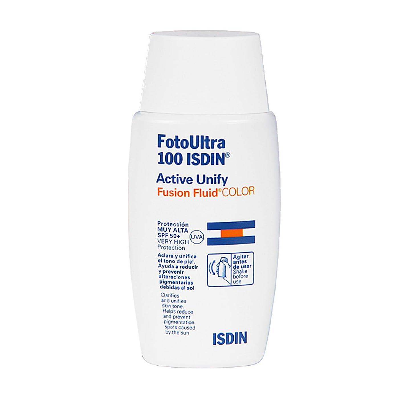 自分のクリアバイアスIsdin Foto Ultra 100 Active Unify Color Spf50+ 50ml [並行輸入品]
