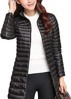 Women's Lightweight Puffer Down Jacket Coat,Ultralight Slim Packable Hooded Warm Casual Sports Travel Parka Outerwear